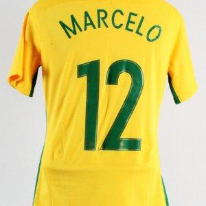 2017 Marcelo Game-Worn Jersey Brazil National Team