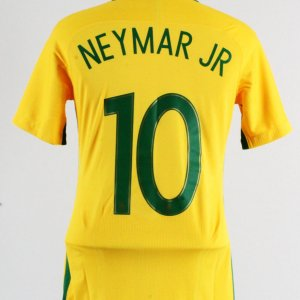 2017 Neymar Jr. Game-Worn Jersey Brazil National Team