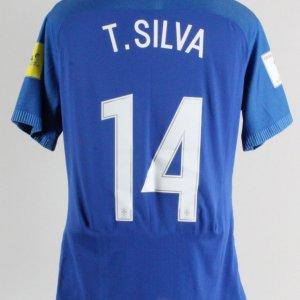 2017 Thiago Silva Game-Worn Jersey Brazil National Team