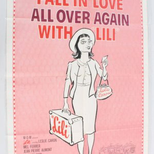 1964 Lili Movie Poster One Sheet R 64/340