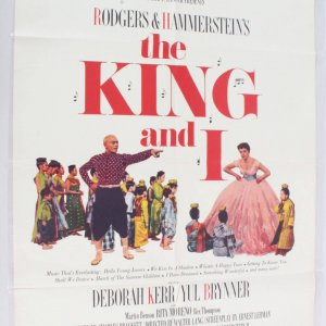 1965 The King and I Movie Poster One Sheet R 65/357
