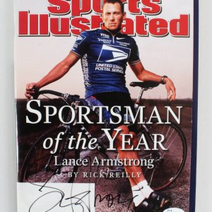 Lance Armstrong Signed Magazine Sports Illustrated - COA JSA