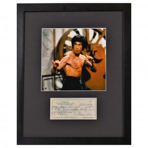 Bruce Lee with Reproduction Check Framed