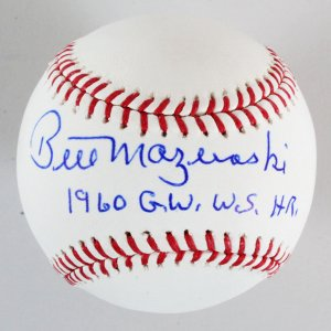 Bill Mazeroski Signed Baseball Pirates - COA JSA