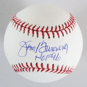 Jim Bunning Signed Baseball Phillies - COA JSA