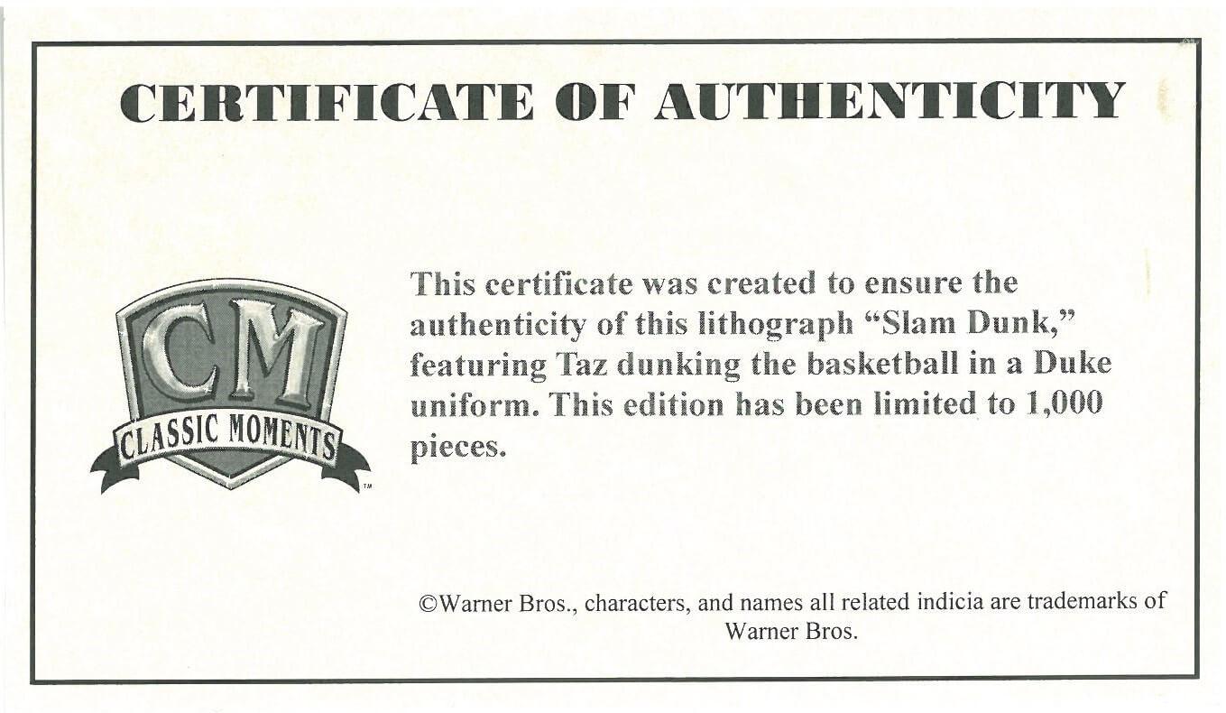 the best attitude bac34 a8e28 Duke Warner Bros. Basketball Framed Litho