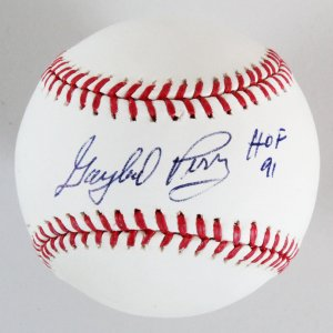 Gaylord Perry Signed Baseball Giants - COA Steiner