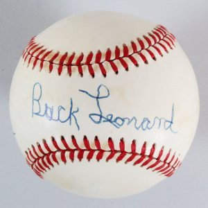 Buck Leonard Signed Baseball Negro League - COA JSA