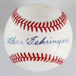 Charlie Gehringer Signed Baseball Tigers - COA PSA/DNA