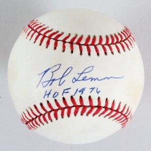 Bob Lemon Signed Baseball Indians - COA