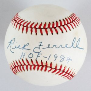 Rick Ferrell Signed Baseball Red Sox - COA