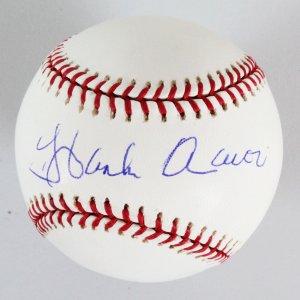 Hank Aaron Signed Baseball Braves - COA JSA