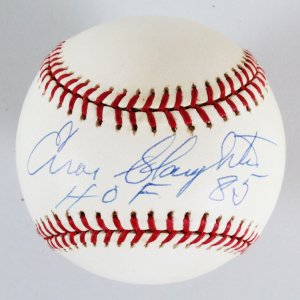 Enos Slaughter Signed Baseball Cardinals - COA JSA