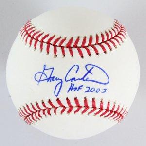 Gary Carter Signed Baseball Mets - COA JSA