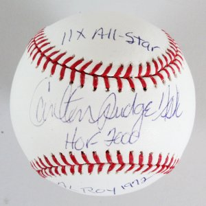 Carlton Fisk Signed Baseball Red Sox - COA PSA/DNA