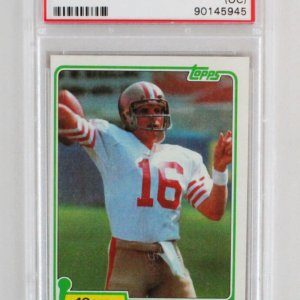 1981 Topps Joe Montana Graded RC Card 216 - PSA 9