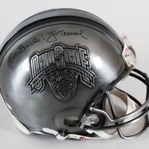 Jim Tressel Signed Helmet Full Size Ohio State - COA JSA