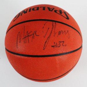 Magic Johnson Signed Basketball Lakers - COA JSA