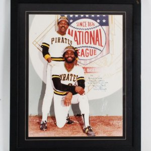 Willie Stargell Signed Photo Display w/Mike Easler (Personalized) Easler Letter
