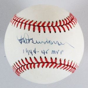Hal Newhouser Signed Baseball Tigers - COA PSA/DNA