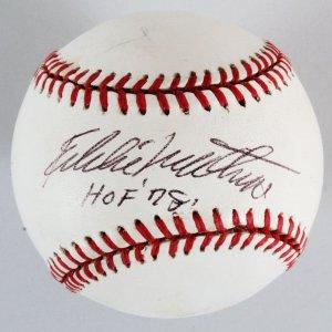 Eddie Mathews Signed Baseball Braves - COA PSA/DNA