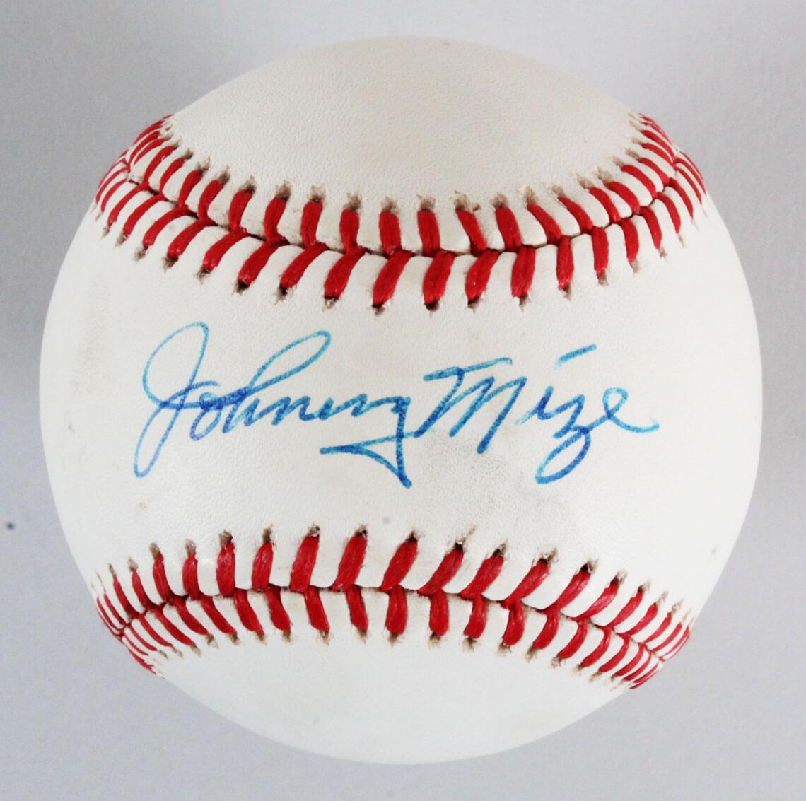 3f16958b4f0 Johnny Mize Signed Baseball Cardinals – COA PSA DNA