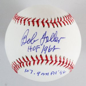 Bob Feller Signed Baseball Indians - COA PSA/DNA