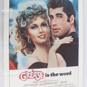1978 Grease Movie Poster One Sheet 780018