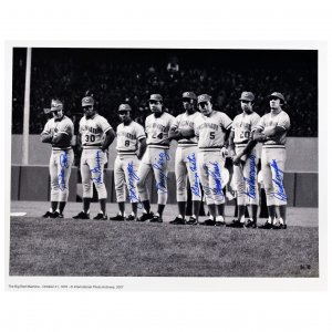 Big Red Machine Signed- Reds Starting 8 Line-Up Photograph