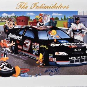 """Dale Earnhardt signed Warner Bros. L.E.""""The Intimidators"""""""