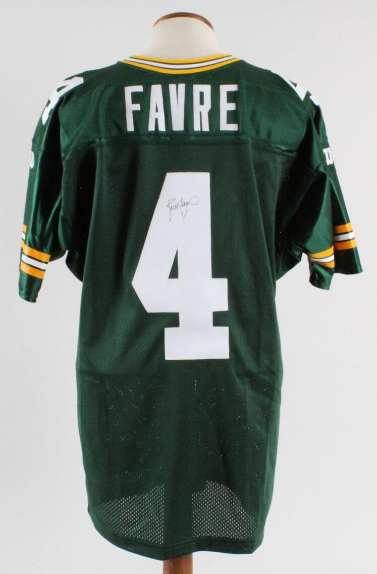 the best attitude 689e0 b5393 Brett Favre Signed Jersey Packers - COA JSA
