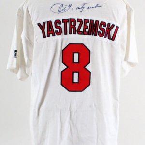 Carl Yastrzemski Signed Jersey Red Sox - COA JSA