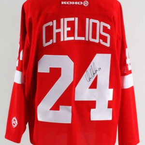 Chris Chelios Signed Jersey Red Wings - COA JSA