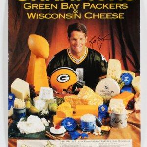 Brett Favre Signed Poster Packers - COA JSA