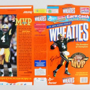 Brett Favre Signed Wheaties Box Packers - COA JSA