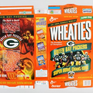 Reggie White Signed Wheaties Box w/4 Other Packers - COA JSA