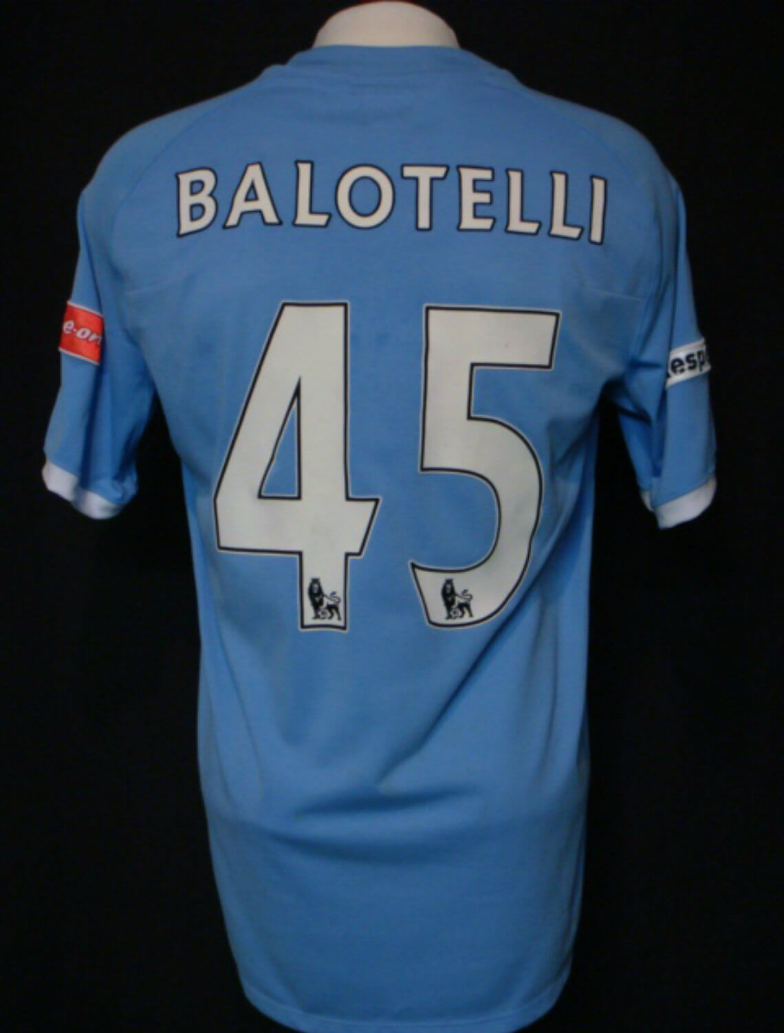 big sale 7be83 d2f07 2011 Mario Balotelli Game-Worn Jersey Manchester City
