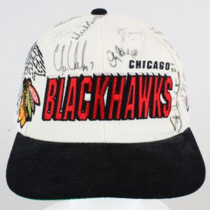 Chris Chelios Signed Hat Blackhawks w/10 Others - COA JSA