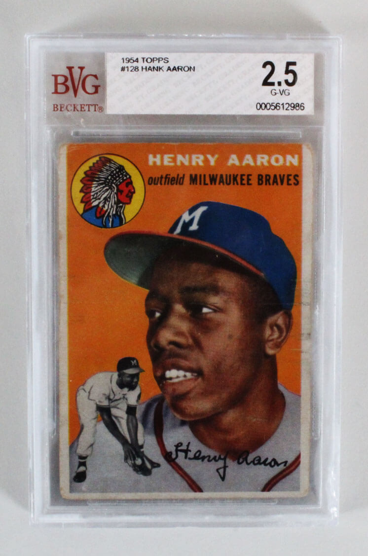1954 Topps Hank Aaron Graded Rookie Card Rc 128 Bvg