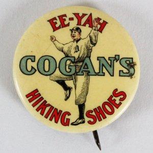 Hugh Jennings Cogan's Hiking Shoes 1910 Baseball Pin