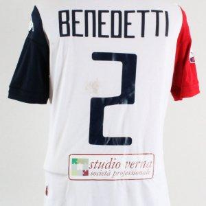 2015 Simone Benedetti Game-Worn Jersey Cagliari Calcio