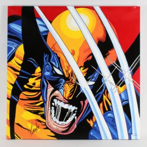 Steve Kaufman Artwork Wolverine Signed by Stan Lee