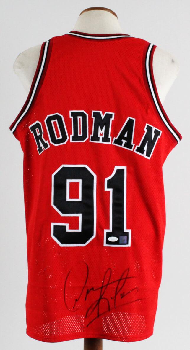 check out 23072 09288 Dennis Rodman Signed Jersey Bulls - COA JSA