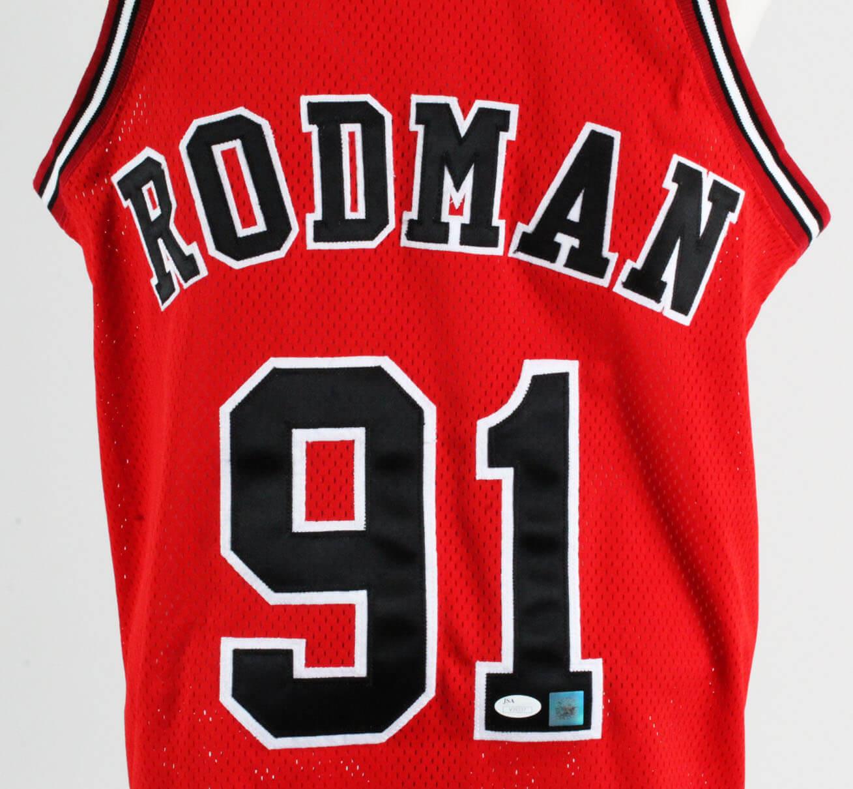 info for c6937 4c3d3 Dennis Rodman Signed Jersey Bulls – COA JSA | Memorabilia Expert