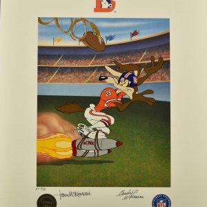 Tom and Charles McKimson Signed Warner Bros. Denver Broncos