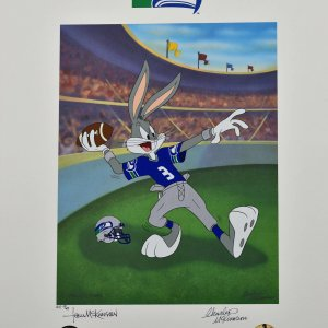 Tom and Charles McKimson signed Warner Bros.  Seahawks - Bugs Bunny