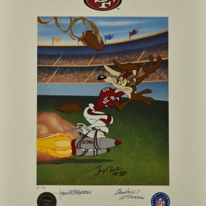 Jerry Rice Bugs Bunny Signed Warner Bros. San Francisco 49'ers