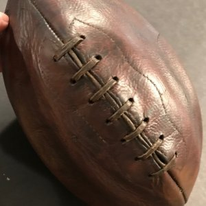 1910-1915 Mellon Football Seven Lace