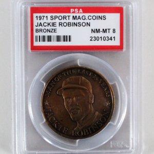 1971 Jackie Robinson Sport Magazine Coins Bronze - PSA