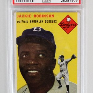 1954 Topps Jackie Robinson Graded Card #10 - PSA